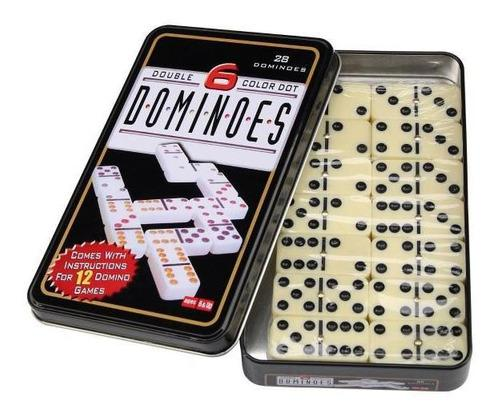 Domino dominoes caja de metal grandes