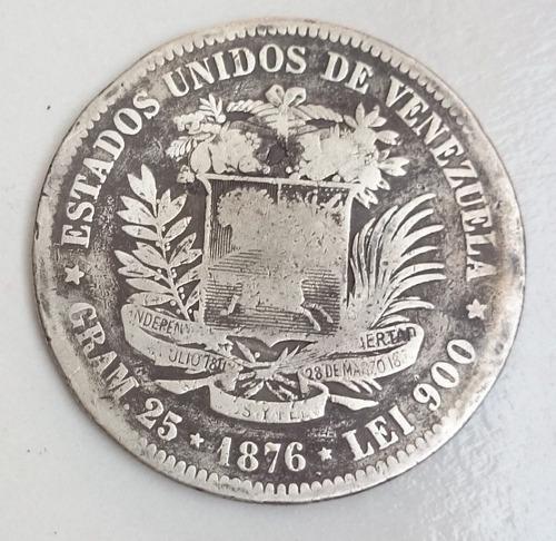 Fuerte o 5 bolivares el venezolano de 1876.