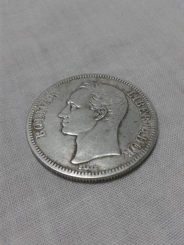 Fuerte plata estados unidos de venezuela 1.919 lei 900 25 gr