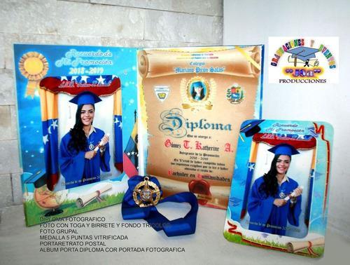 Graduaciones, diplomas medallas álbumes, togas fotografías