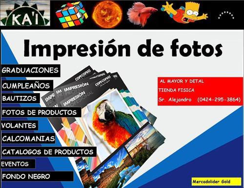 Impresión de fotos fotografías pack de fotos