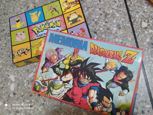 Juego de memoria pokemon, dragonball z