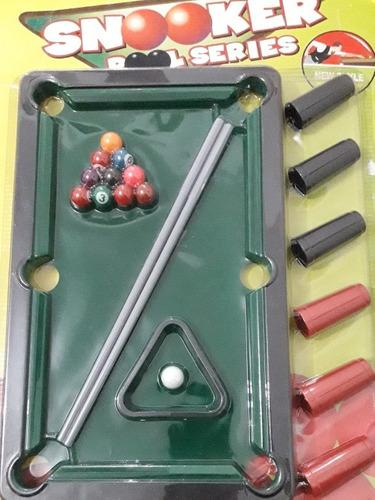 Juego de mesa billar pool niños familiar diversion