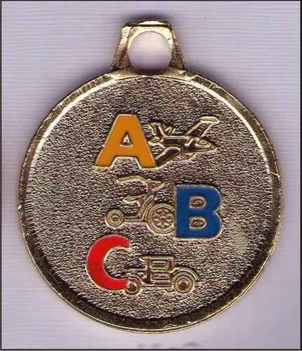 Medallas abc promociones preescolar con cinta