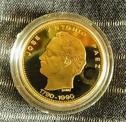 Moneda de oro conmemorativa a: jose antonio paez