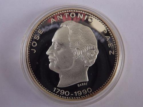 Moneda de plata 500 bolívares. josé antonio páez