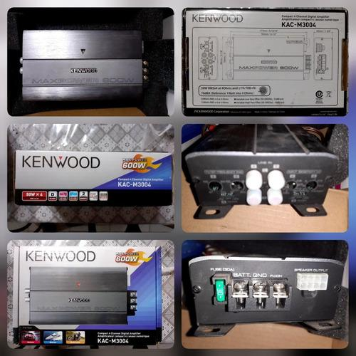 Planta amplificador kenwood compacta 2/4 canales 600w