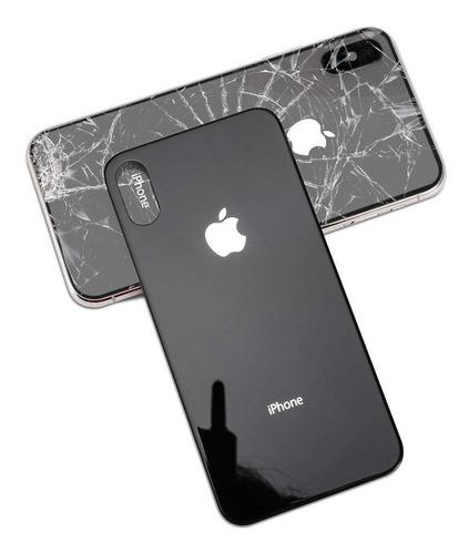 Tapa trasera iphone x / xs / xr / xs max + bisel camara