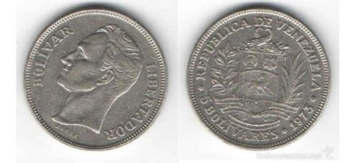 Vendo monedas fuerte niquel 5 bs 1973-1977 hasta 1990