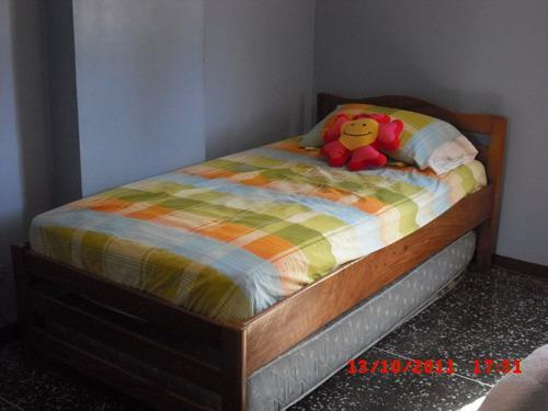 Dormitorio individual madera saman con colchon