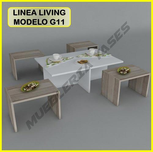 Mesa centro modern juego sala comedor sofa recibo g11 (137v)