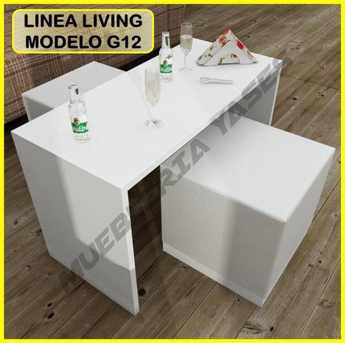 Mesa centro modern juego sala comedor sofa recibo g12 (145v)