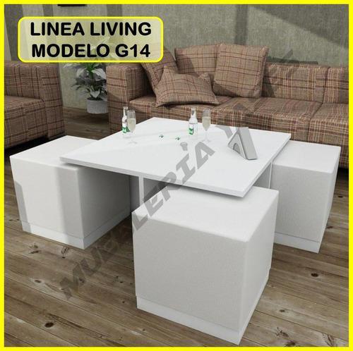 Mesa centro modern juego sala comedor sofa recibo g14 (296v)