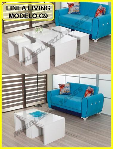 Mesa centro moderna juego sala comedor sofa recibo g9 (122v)