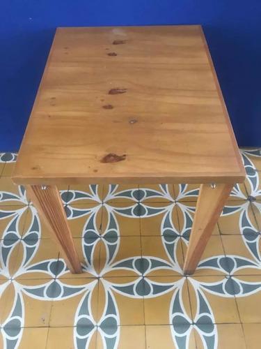 Mesa de pino 2 puestos muebles sala comedor mobiliario