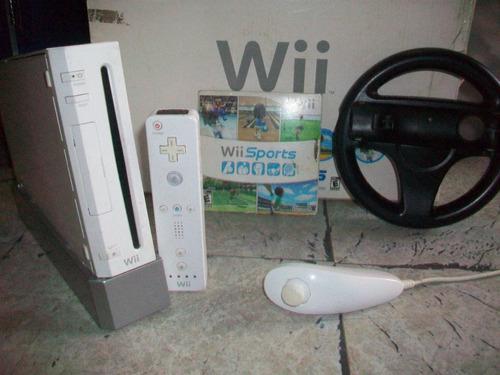 Nintendo wii sports + un juego original + volante