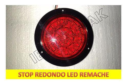 Stop redondo led remache camiones autobuses cavas bateas