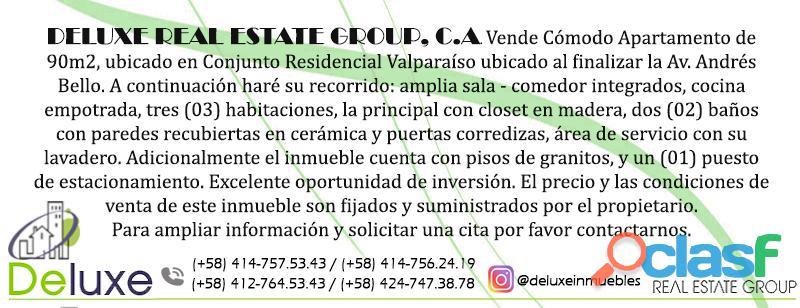 Cómodo Apartamento de 90m2, ubicado en Conjunto Residencial Valparaíso 1