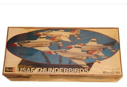 Avion a escala equipo acrobatico thunderbird f-4 revell