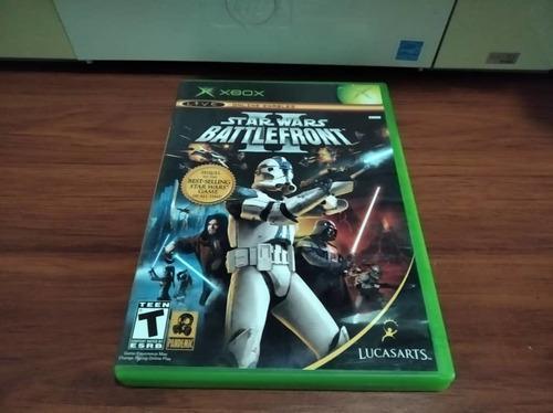 Juego original para xbox clásico. star wars battlefront 2.