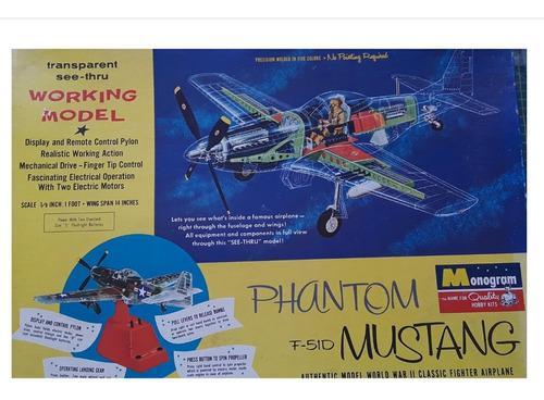 Monogram mustang f-51d phantom transparente escala 1:32