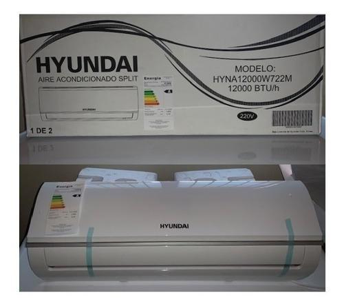 Aire acondicionado split hyundai 12000 btu, nuevo en sucaja