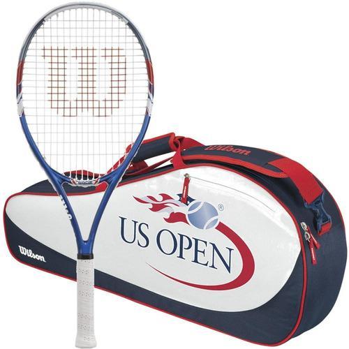 Bolso para raquetas de tennis wilson usope gr/ro(3raq/6raq)