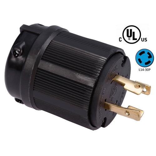 Enchufe seguridad l14-30a 125/250v 4 patas planta electricas