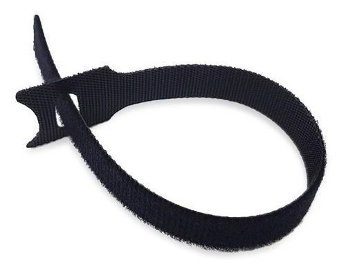 Enintel- cinta velcro 20cm negro amarra cable 100 unidades