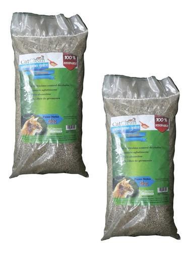 Packs de 2 unidades de arena para gatos catclean premium 4kg