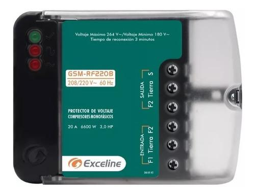 Protector monof refrig aire motor 220vac exceline gsm-rf220b
