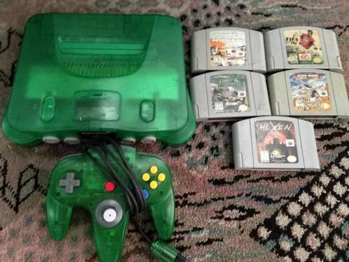 40v nintendo 64 verde jungle green