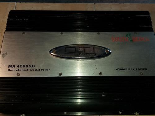 Amplificador dti 4200watt monoblock