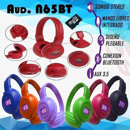 Audífonos inalámbricos n-65bt diferentes colores