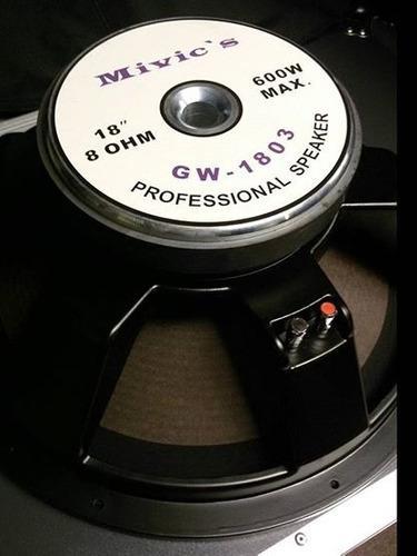 Bajo mivic qsc crown dbx american audio rack case jbl rcf dj