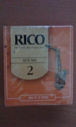 Cañas para saxo alto 2.1/2 rico original americana (35vds)