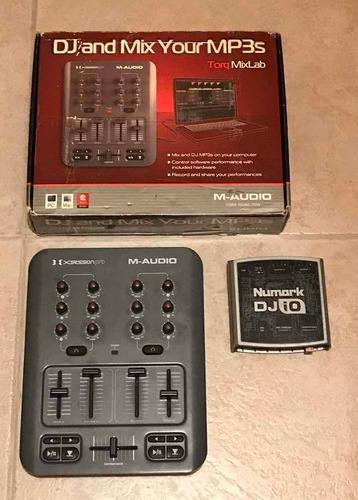 Controlador m-audio xsession pro + interfaz numark dj io