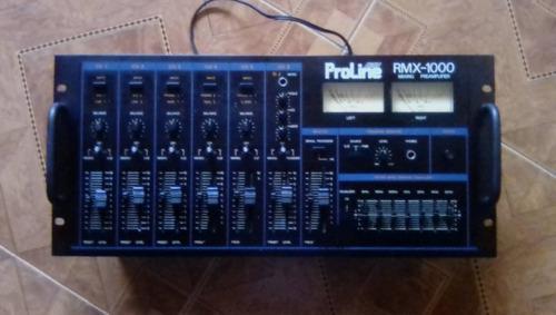 Mezclador proline arrow rmx 1000 audio profesional 6 canales