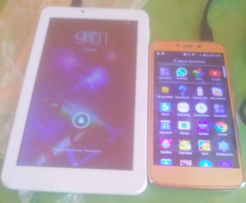 Tablet y celular motorola c plus