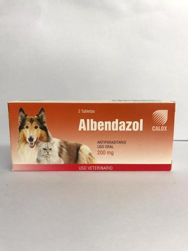 Albendazol Calox 2tab Desparasitante Perros 2unid Mascotas