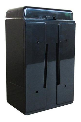 Dispensador de jabón liquido 1000cc acrílico negro