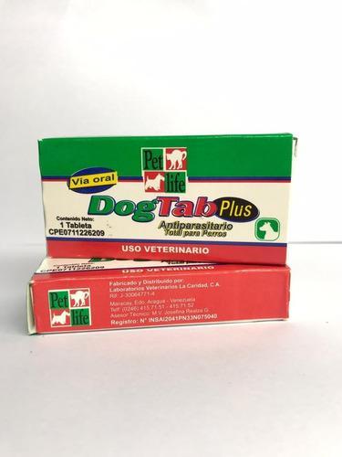 Dog Tab Plus 1tab Desparasitante Perros 3unid Mascotas