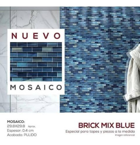 Mosaico azul oscuro
