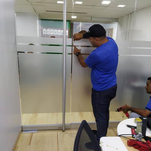 Papel vinil esmerilado para oficinas casas apto vidrios
