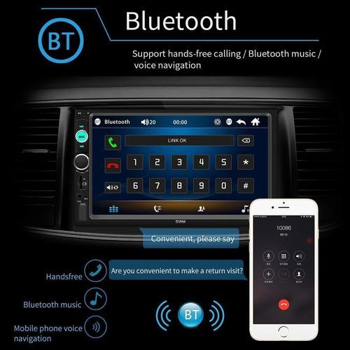 Reproductor carro 2 din pantalla tactil 7 pulgadas bluetooth