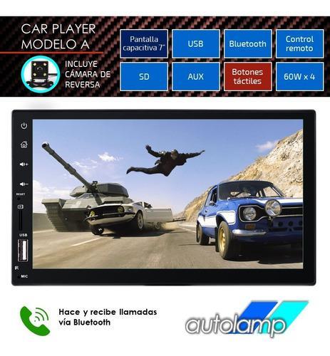 Reproductor carro pantalla 7 mp5 mp3 usb bluetooth doble din