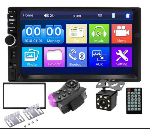 Reproductor de pantalla 2 din, bluetooth, camara, usb