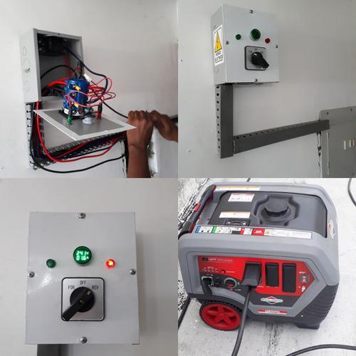 Transfer manual de 63 amp para plantas emergencias