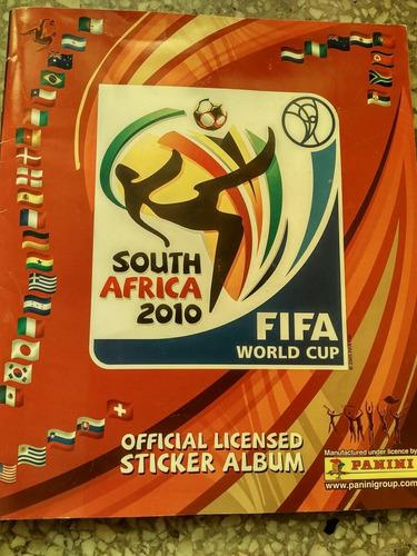Lbum barajitas panini mundial futbol 2010 colecciòn lleno