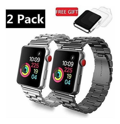 2 correa apple watch acero inoxidable gps iwatch